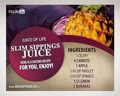 Slim Sipping Juice Smoothie  Blend the banana after juicing