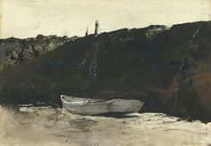 TEEL'S LANDING - By Andrew Wyeth Artwork Description Dimensions: 19 by 28 in Medium: watercolor on paper Creation Date: 1953