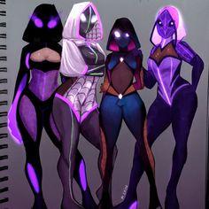 Cute Anime Character, Character Art, Character Design, Spider Art, Spider Verse, Ichigo Y Rukia, Mass Effect Art, Scarlet Spider, Gamer Pics