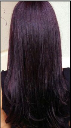 Deep plum hair More