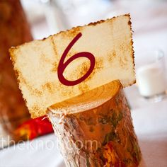 table numbers for fall wedding