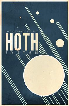 I came across these neat Star Wars inspired posters. They are vintage travel posters for Star Wars worlds including Hoth, Tatooine, and a few others. They were designed by Justin Van Genderen. Star Wars Poster, Star Wars Art, Poster Minimalista, Minimalist Poster Design, Minimalist Art, Systems Art, Tourism Poster, Vintage Travel Posters, Retro Posters
