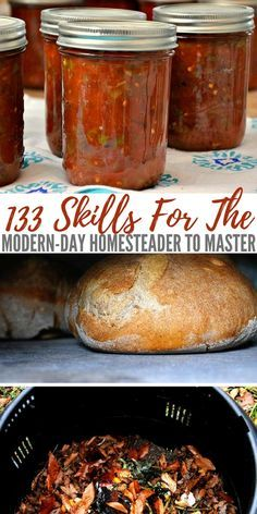 133 Skills For The Modern Day Homesteader To Master — I may not have acres and acres like a traditional homestead but being a modern day homesteader, all I need is my brain and the will to carry o Homestead Farm, Homestead Living, Homestead Survival, Survival Food, Survival Prepping, Survival Skills, Emergency Preparedness, Survival Shelter, Survival Quotes