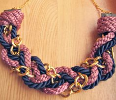 DIY rope and chain necklace