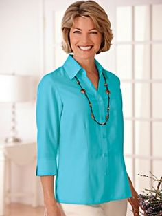 microtouch blouse with free necklace, microtouch blouse, wrinkle-resistant top, top, shirt, blouse, free necklace