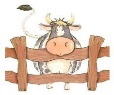 tubes vaches ex - Page 2 Cartoon Cow, Cartoon Kunst, Cute Cartoon, Doodle Art, Farm Animals, Cute Animals, Cow Colour, Sweet Cow, Cute Cows