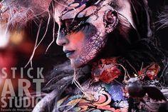 Maquillaje realizado por Julio Quijano, maestro de Stick Art Studio, escuela de maquillaje artístico en Barcelona.