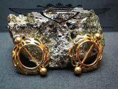 2 x Brustwarzenpiercing Schild in 24 Karat vergoldet Nipple Intimpiercing gold