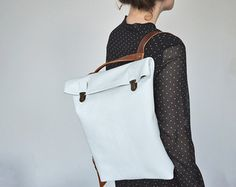 Leather Backpack/ Leather rucksack/ Women/ Tote/ Bag/ by byNizzo