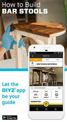 Whether you want to build your own bar stools, install a dimmer switch or replace a fence post, the DIYZ® app has the guidance you need to get all your DIY projects done.  Follow step-by-step instructions and purchase the tools and materials you need right from the app. Feel confident that your project will be completed right the first time with real time access to experienced Pro Advisors. Download the free app now to get started!
