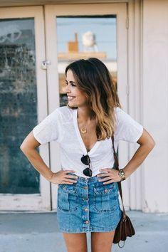 Weißes T-Shirt kombinieren: Look 10