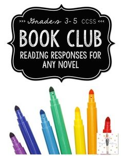 """""""This is an excellent, useful, well organized product! My 4th grade students did a fantastic job and loved every minute of book club! I was able to differentiate with my different ability levels and books and all students showed tremendous growth!"""" """"Book Club"""" is my version of Harvey Daniel's Literature Circles."""