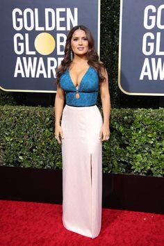 Salma Hayek – Annual Golden Globe Awards Red Carpet in Beverly Hills Salma Hayek Images, Salma Hayek Pictures, Golden Globe Award, Golden Globes, Sexy Older Women, Sexy Women, Salma Hayek Body, Salma Hayek Bikini, Selma Hayek