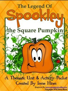 The Legend Of Spookley The Square Pumpkin: Book Written By Joe Troiano  This October Unit has 50 pages of ideas, activities & printables,  correlates to the Common Core Standards & includes:   ~Bullying Prevention & Tolerance Classroom Discussion Questions, Key Themes & Objectives & Character Values ~Classroom projects & activity ideas ~Vocabulary Words, Practice, Graphic Organizers & Printables, Making Connections, Character Webs, Writing Activities, ABC Order, Venn Diagram, Story Maps