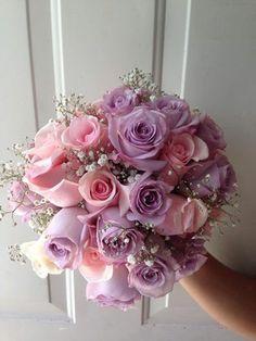 Riviera Maya weddings / Bodas Bouquet with lilac and  light pink roses/ ramo de rosa palo y lila