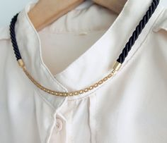 Rope Cord & Chain Necklace