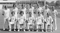 The England squad for the first Test (back row, l-r) Clive Radley, Geoff Miller, Ian Botham, Mike Hendrick, Phil Edmonds, David Gower, Barry Wood; (front row, l-r) Graham Roope, Bob Willis, Mike Brearley, Chris Old, Bob Taylor, England v Pakistan, 1st Test, Leeds, June 6, 1978 Ian Botham, Cricket England, Pakistan Vs, Tours Of England, England Players, Test Cricket, Play N Go, Before Us, Classic Tv