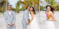 Beach elopement at Crandon Park in Key Biscayne, Florida. Beach weddings in Miami. Bamboo arbor, beach wedding decor, beach notary officiant, floral, photography and logistical arrangements provided by Small Miami Weddings. www.smallmiamiweddings.com