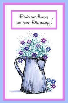 Sprig Coffee Pot Card