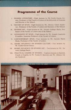 Imgen de la Sala de Lectura en un folleto publicitario del Curso de Vacaciones para Orientales que se impartió en 1933. [AEA]