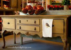 Buffet in Primer Red and Arles Chalk Paint