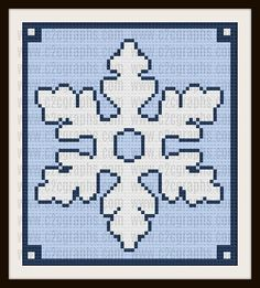 Thank you for considering our Snowflake Corner to Corner (C2C) crochet graph and instructions. This is one seasonal decoration you wont have to put away after Christmas, keep it out all winter long :) While I was doing this graph I thought how pretty it would be with a sparkly white yarn for the snowflake color. The Snowflake graph pattern will be delivered in a pdf format that includes a full size graph, a graph scaled down to print on one page, a color coded row by row word chart, a black…
