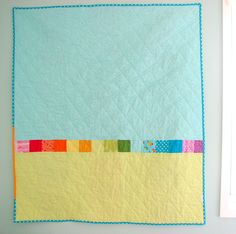 Happy Modern Quilts: An Evolved Rainbow Quilt   fun idea for backing