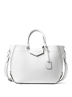 05299d88597b Product image Handbags, White Leather, Leather Bag, Style, Saks Fifth  Avenue,