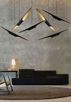 Vitra Furniture Polder Sofa & Coltrane suspension lamps | lighting . Beleuchtung . luminaires | Delightfull |