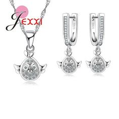 02974969b0c4be JEXXI Pretty Little Bird 925 Sterling Silver Fashion Jewelry Set Wholesale  Cute Gift For Children Party