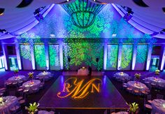 Bring the outdoors in with a leaf projection on the wall