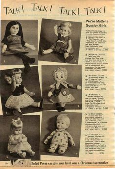 Other Collectible Advertising Merchandise & Memorabilia Chatty Cathy Doll, Toy Catalogs, Beatnik, Old Toys, Stuffed Toys Patterns, Vintage Dolls, Baby Dolls, Children, Kids