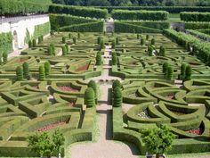 Good Maze garden outside of the Queen of Heart us Castle Ziergarten von Schloss Villandry Loiretal