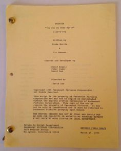 "FRASIER TV Show Original Scripts Screenplays ""You Can Go Home.."" Kelsey Grammer"
