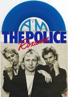 "The Police - Roxanne, 7"" blue vinyl single, A&M records, c.1978, new wave, sting #vinyl #police #sting"