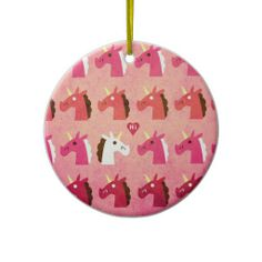 Love is in the Air Unicorn Ornaments
