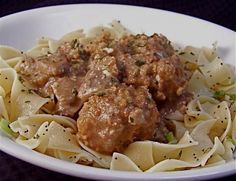 Crock Pot Meatball Stroganoff