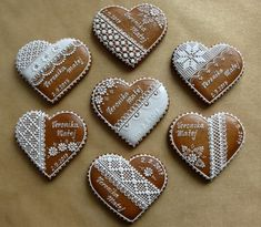 Royal Icing, Cakes And More, Cookie Decorating, Gingerbread, Wedding Decorations, Cookies, Food, Frosted Cookies, Chip Cookies
