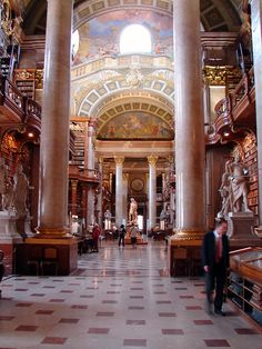 Hofbibliothek is the Austrian National Library. It is located in the Hofburg Palace in Vienna. By Tjflex2, via Flickr
