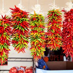 Great way to use all the excess chillies in my garden- decoratively drying them for future use(inspiration only)