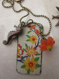 Vintage Tin Tag Pendant Tin for the Ten Year by TheMadCutter, $27.00
