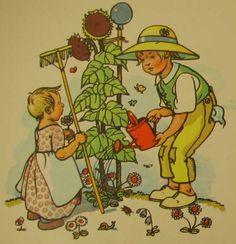 Alte Kinderreime - Bilderbuich 50er