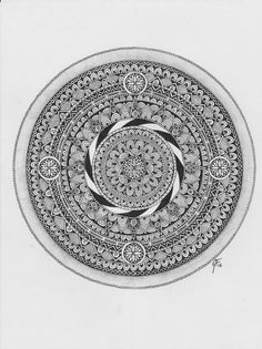 How I make a mandala pt.4: Finally finished.This one took me about 9 hours. I can still do a lot more with it, and I probably will. The more you draw, the more impressive it looks. Hopefully, I gave someone the inspiration to try and make their own mandala, and I would love to see it if you do.