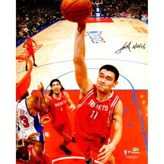 "Yao Ming Houston Rockets Fanatics Authentic Autographed 16"" x 20"" Dunking Photograph with Inscription - $219.99"