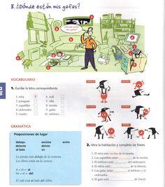 Situar con el verbo Estar+ejercicios