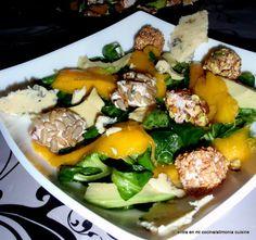 Entra en mi Cocina: Ensalada de mango y queso, aguacate y nueces.