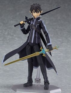 From the anime series 'Sword Art Online II' comes a figma of the main character 'Kirito' in his Spriggan appearance from ALfheim Online! · Using the smooth yet posable joints of figma, you can act out