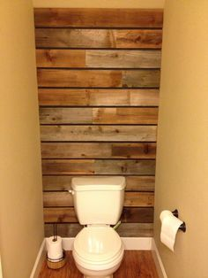 plank wall behind toilet. for the cottage?