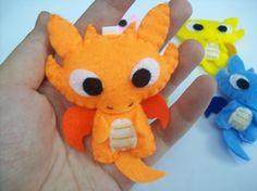 Cute Draco the Dragon - Keychain, Magnet, Phone Charm. $12.00, via Etsy.