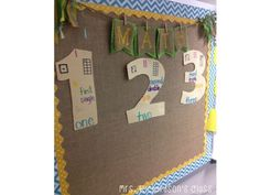 Check out this cute Math Anchor chart! Love how she combined CTP's Chevron Borders with burlap too.